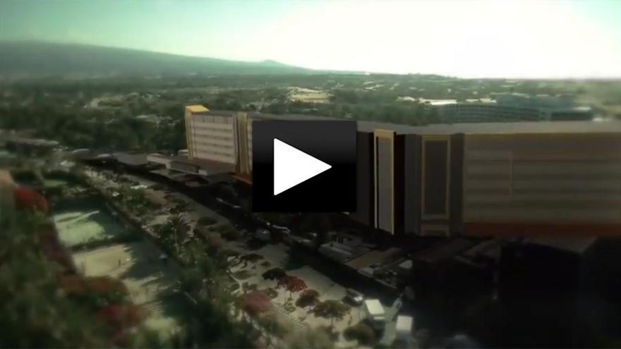 Así quedaría el Oasis de Maspalomas con el nuevo hotel de Riu.