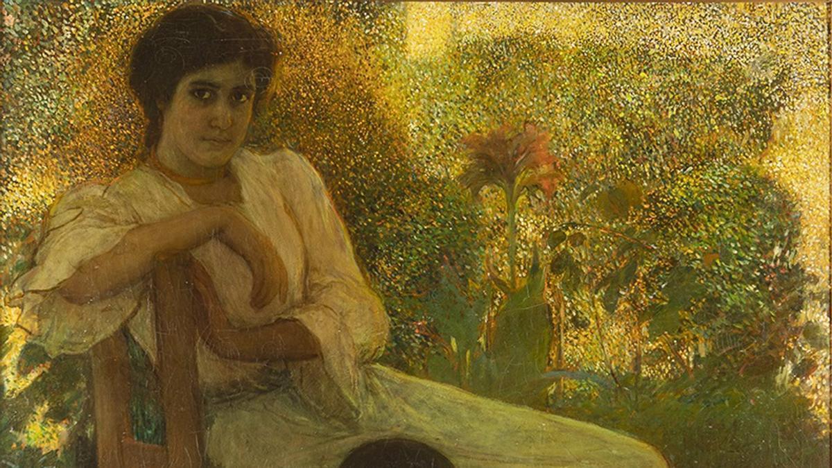 'Aprendiendo A Leer', pintura De Julio Romero De Torres.