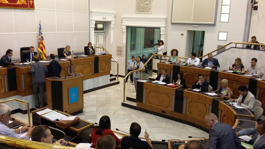 Uno de los últimos plenos celebrados en el Palacio Provincial