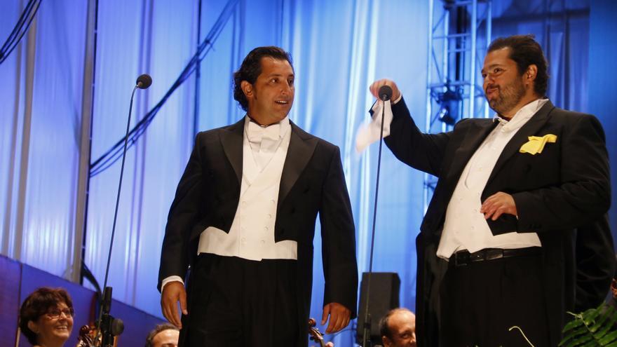 Jorge de León y Celso Albelo, tenores laguneros