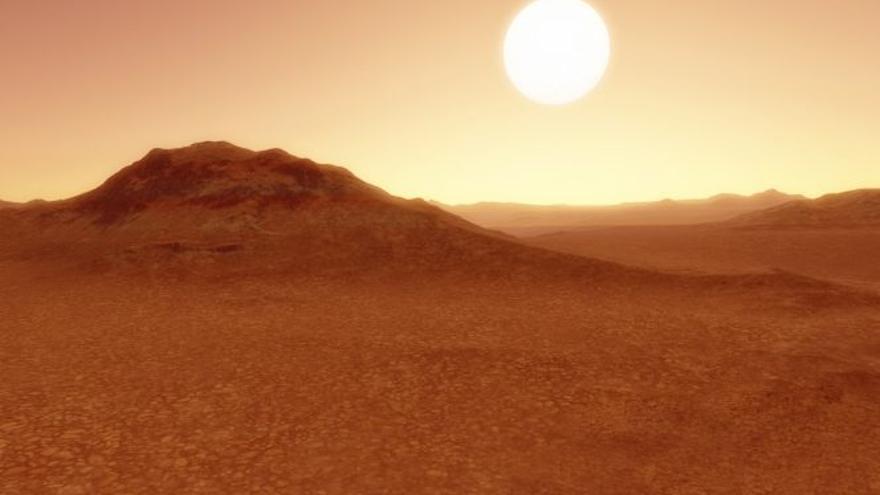Recreación del exoplaneta K2-141b.