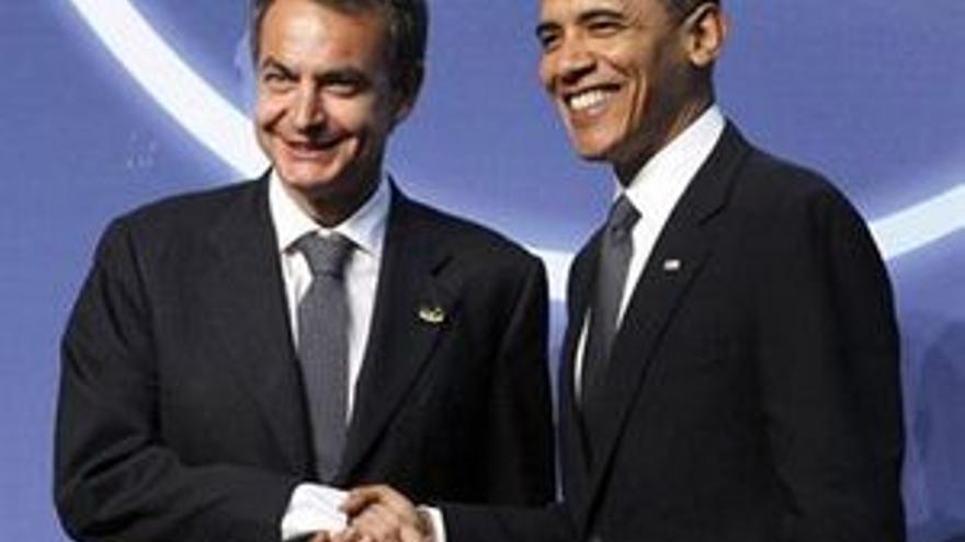 Zapatero con Barack Obama. (EUROPA PRESS)
