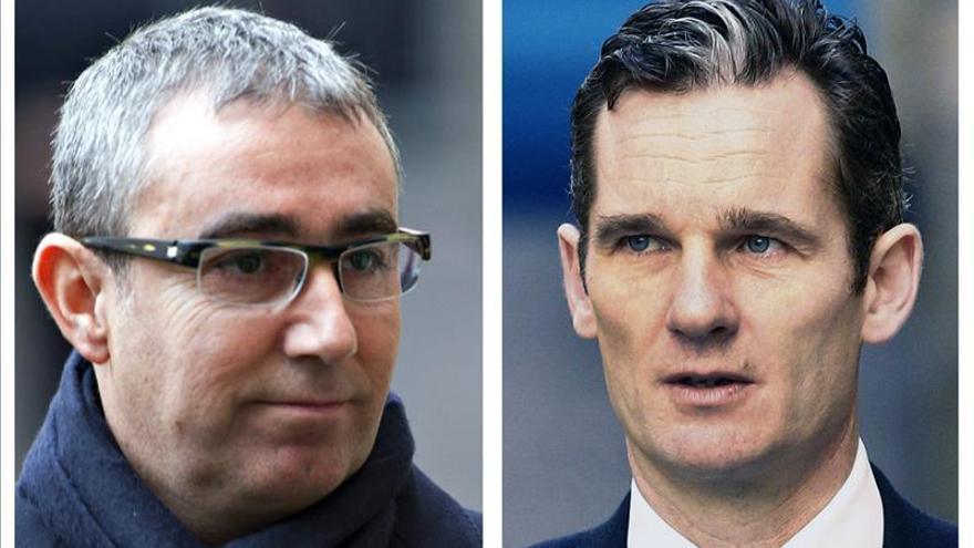 El juez impone una fianza civil de 8,1 millones de euros a Urdangarin y Torres
