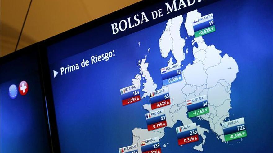 La prima de riesgo española baja a 242 puntos básicos en la apertura