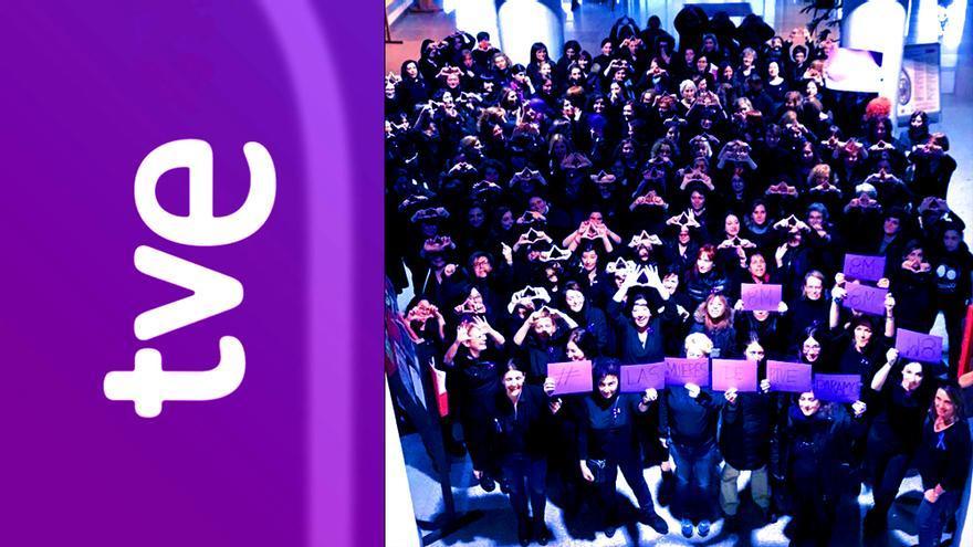 Las profesionales de RTVE secundan la huelga feminista del 8-M