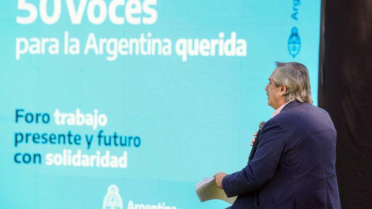 """Alberto Fernández en el Foro """"Trabajo Presente y Futuro con Solidaridad"""""""