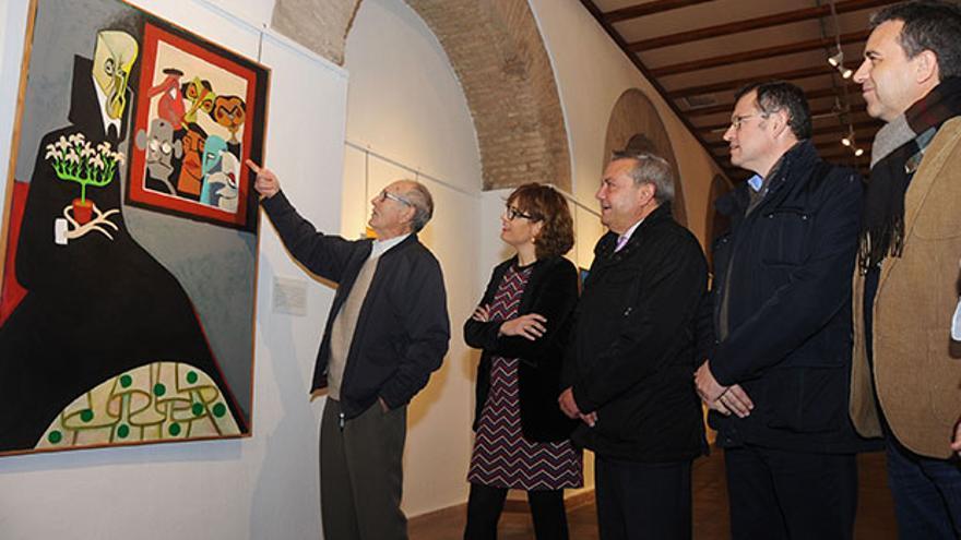 Vázquez de Sola muestra sus cuadros.