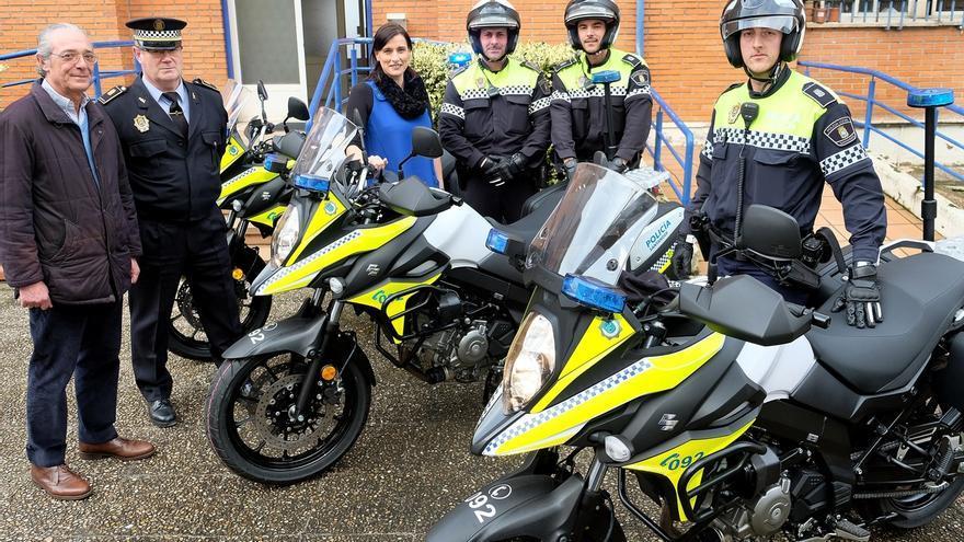 La Policía Local incorpora tres nuevas motocicletas a su parque móvil