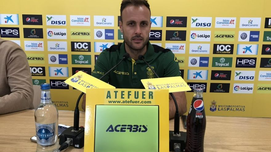 Juan Cala, en la sala de prensa de Telde
