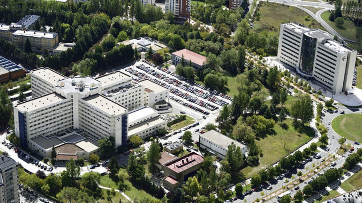 Vista aérea del hospital de Txagorritxu, en Vitoria