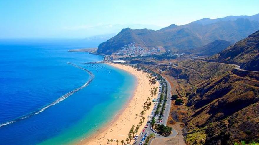 Playa de Las Teresitas, en una foto de archivo