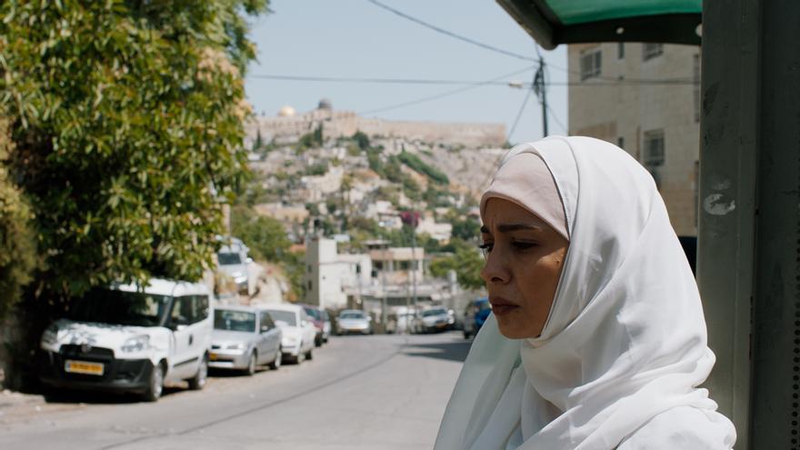 Maisa Abd Elhadi interpreta a Bisan, la mujer de Saleem