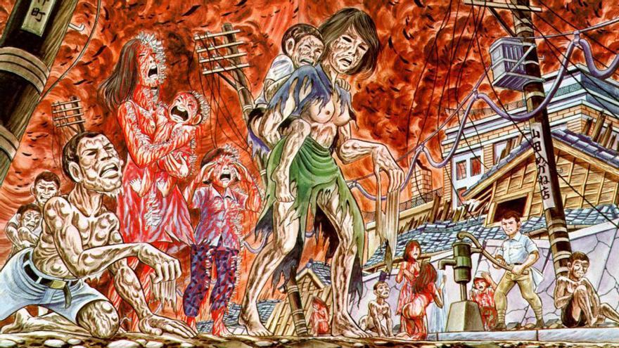 Fragmento de la película de anime japonés sobre Hiroshima.
