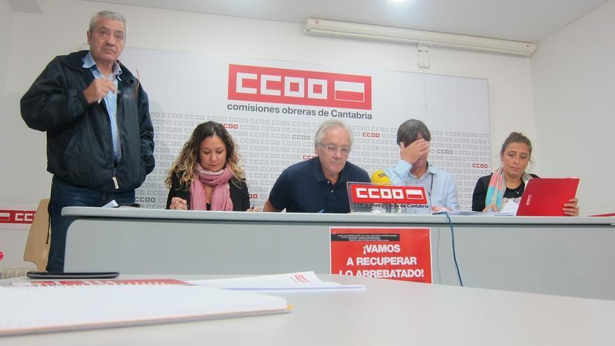 CCOO inicia en Cantabria su campaña de recuperación de derechos pidiendo derogar la Ley de Sostenibilidad