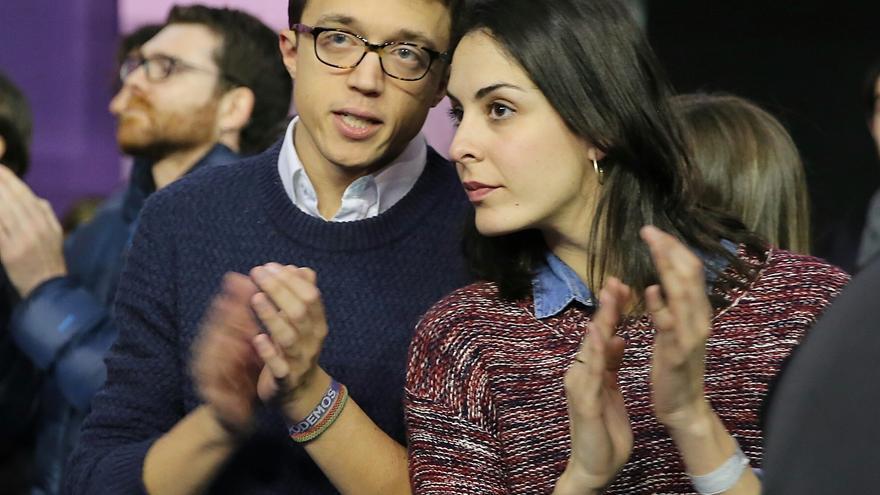 Íñigo Errejón con Rita Maestre en Vistalegre 2.