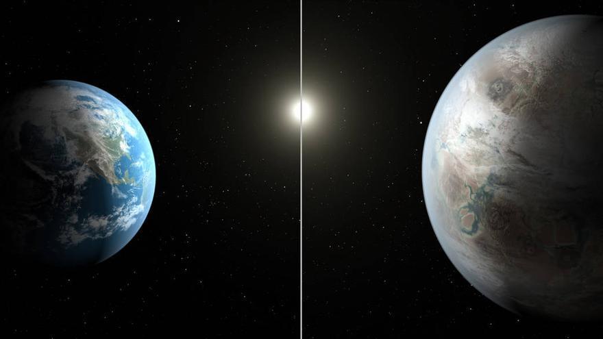 Comparación de la Tierra con el Kepler-452b / NASA