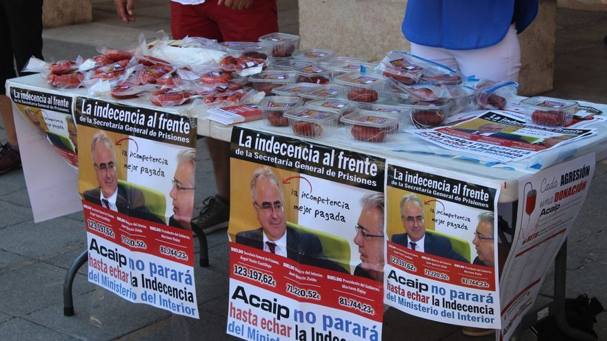 Protesta del sindicato en Teruel.