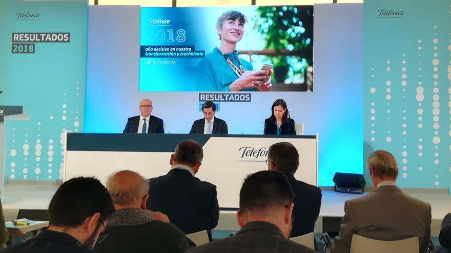 José María Álvarez-Pallete, presidente de Telefónica, presenta los resultados correspondientes a 2018.