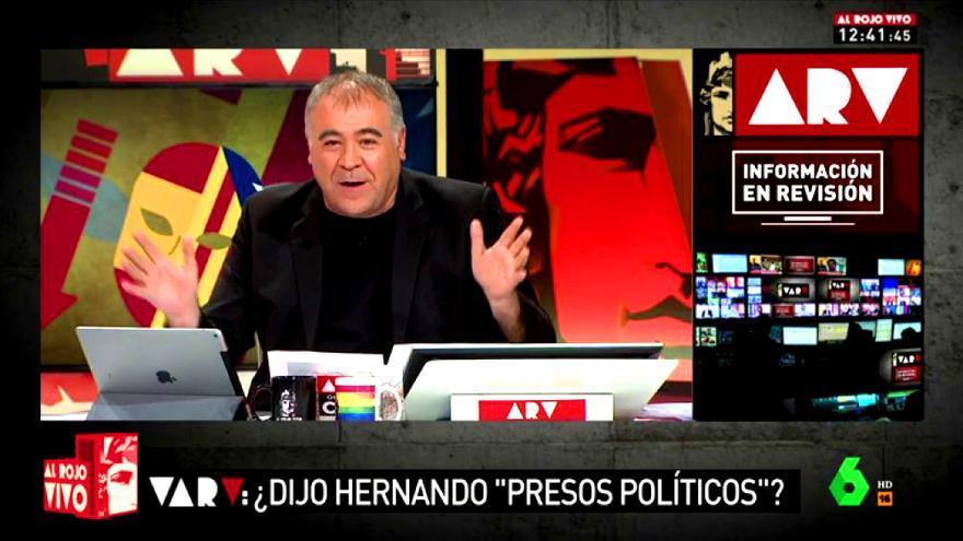 Ferreras estrena su propio VAR para revisar unas declaraciones de Rafael Hernando