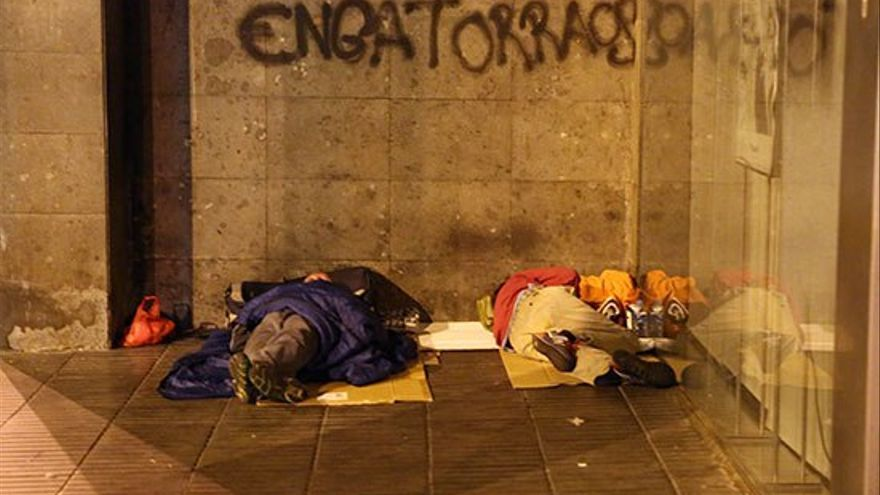 Personas sin hogar en Las Palmas de Gran Canaria. (AR)
