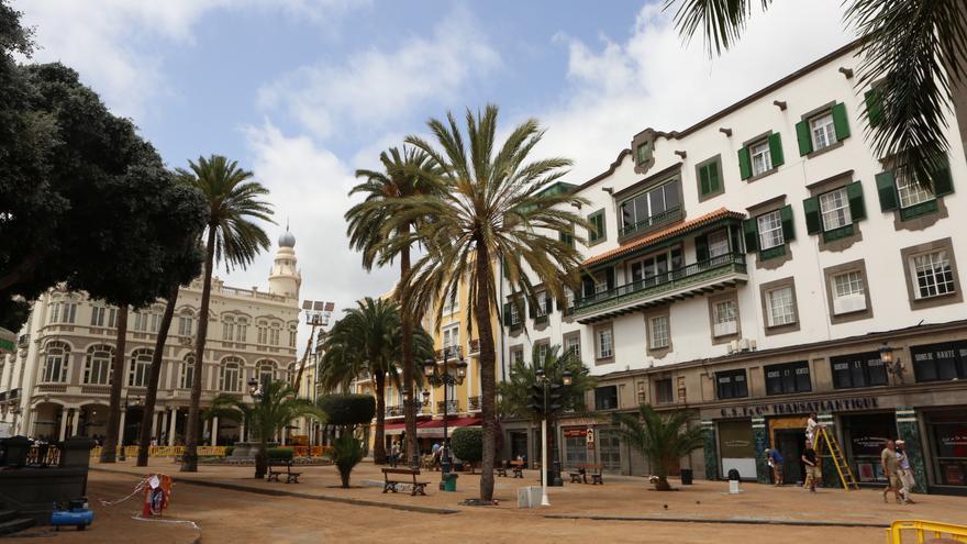 Plaza Cairasco durante el rodaje de 'Aliados'