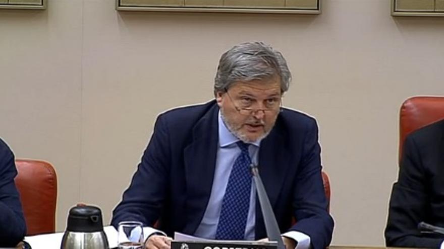 El ministro Méndez de Vigo, en su comparecencia en la Comisión de Educación del Congreso.