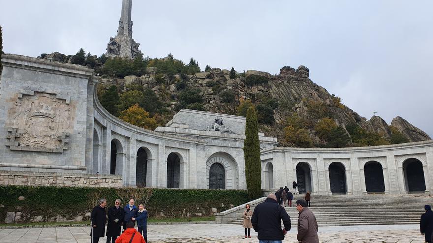 Exterior del Valle de los Caídos este 20N, aniversario de la muerte del dictador.