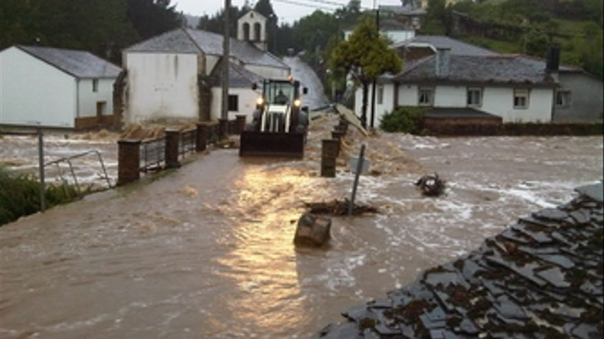 Inundaciones en Ribadeo