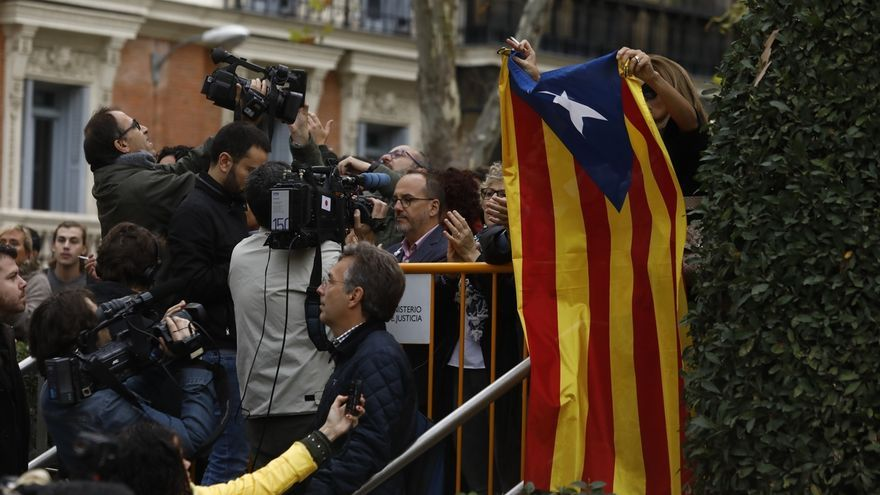 Comienzan a interrogar a Junqueras y los ocho exconsejeros que han acudido a la AN acusados de rebelión