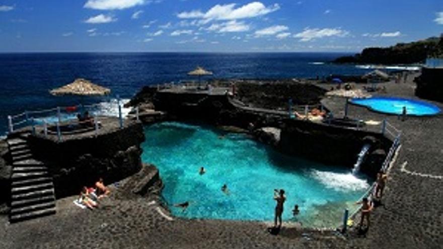 Imagen de archivo del Charco Azul, en la costa de San Andrés y Sauces