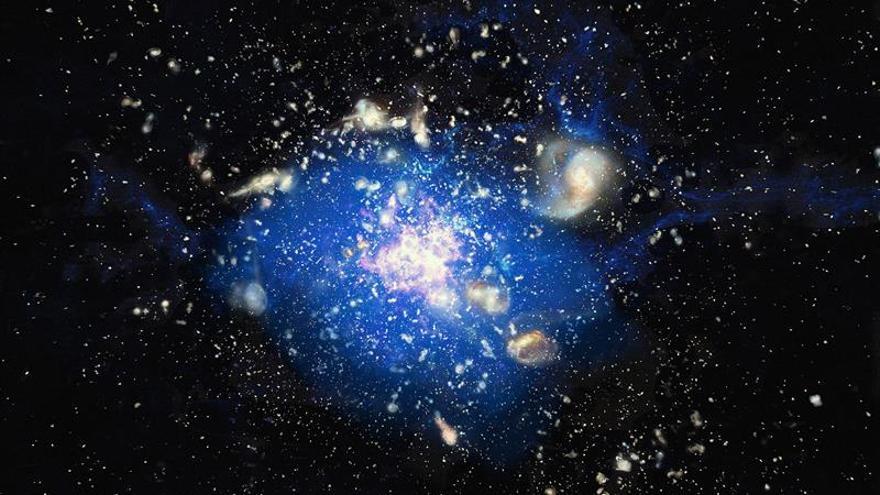 Descubren que las supergalaxias surgen de océanos cósmicos de gas frío