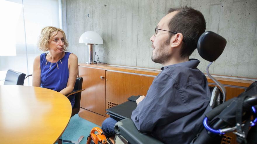 Patricia Luquin con Pablo Echenique (Imagen de archivo)