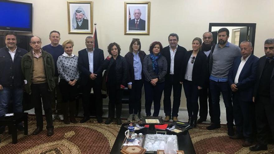 Reunió dels diputats de l'Intergrup amb el governador de Qalqilia