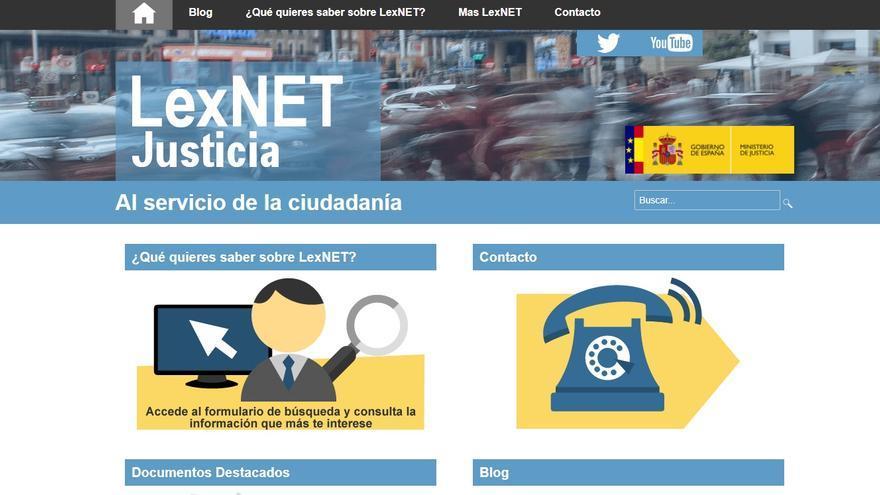 La página principal del LexNET.