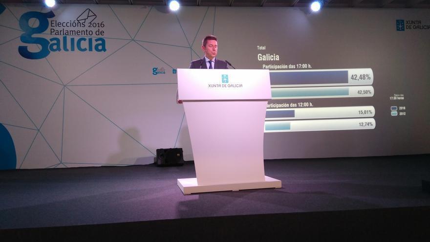 La participación en Galicia hasta las 17,00 horas alcanza el 42,49%, casi idéntica a la de 2012