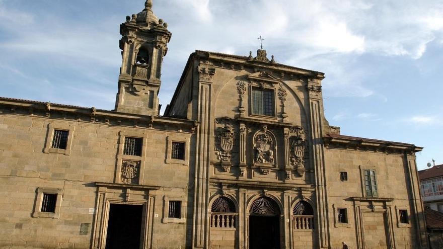 Vista del convento de las Mercedarias, en Santiago de Compostela