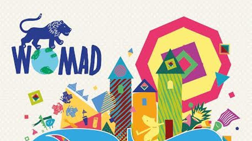 Cartel de la 25 edición de Womad Cáceres.
