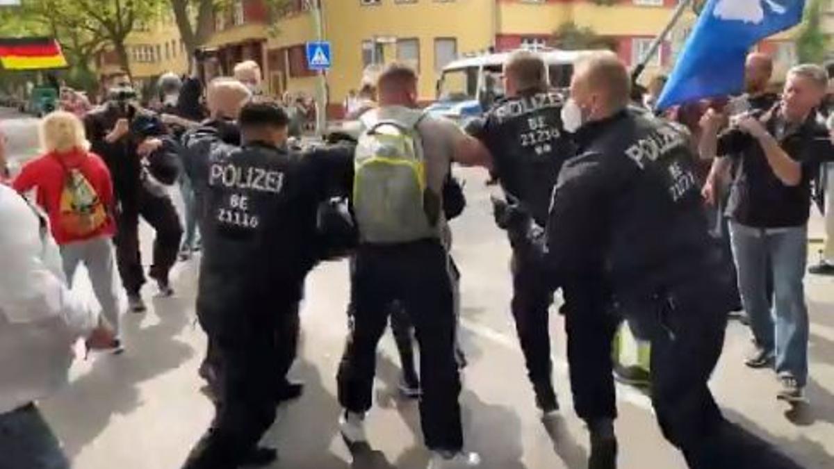 Incidentes en una marcha en Berlín