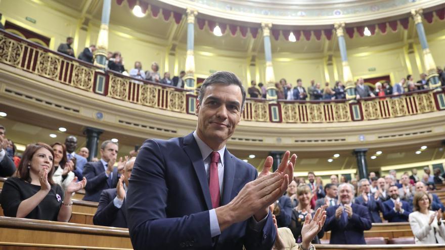 Pedro Sánchez tras ser investido presidente