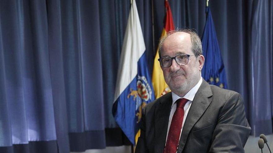 José Carlos Naranjo tras el acto de toma de posesión como administrador único del ente de Radiotelevisión Canaria.