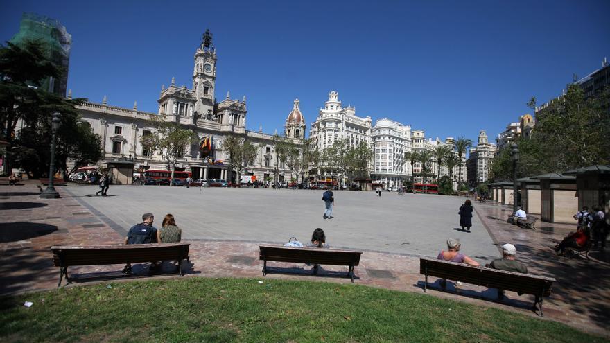 La Plaça de l'Ajuntament de València.