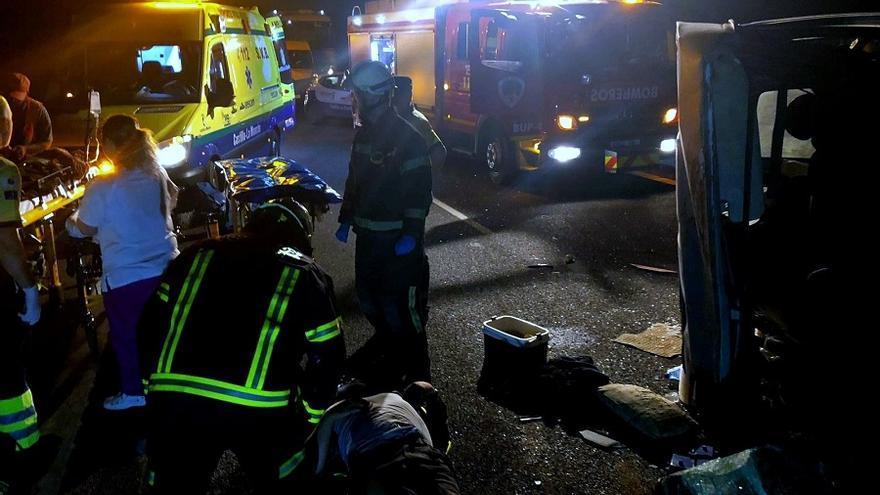 Accidente sucedido en la A-31 a su paso por Montalvos (Albacete)