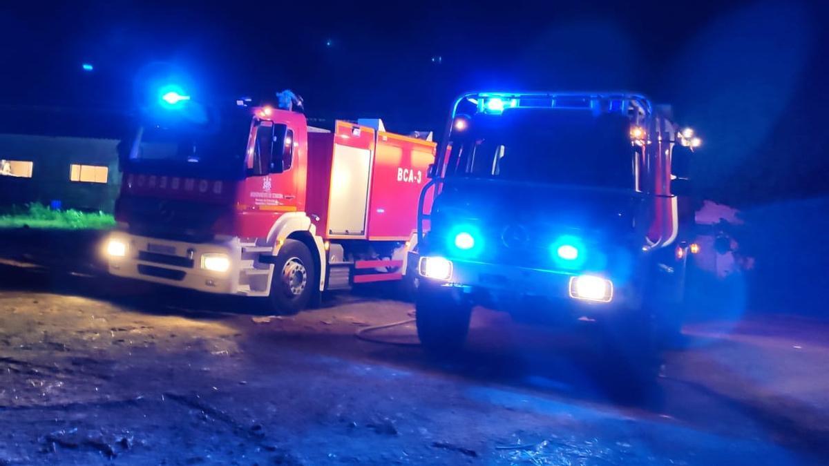 Incendio en una nave agrícola en Fontanar de Quintos.
