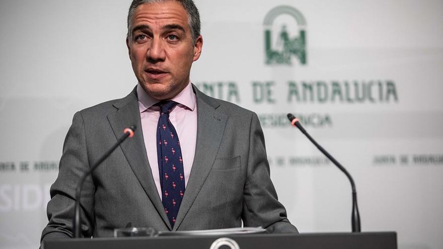 Elías Bendodo, portavoz y consejero de la Presidencia del Gobierno andaluz.