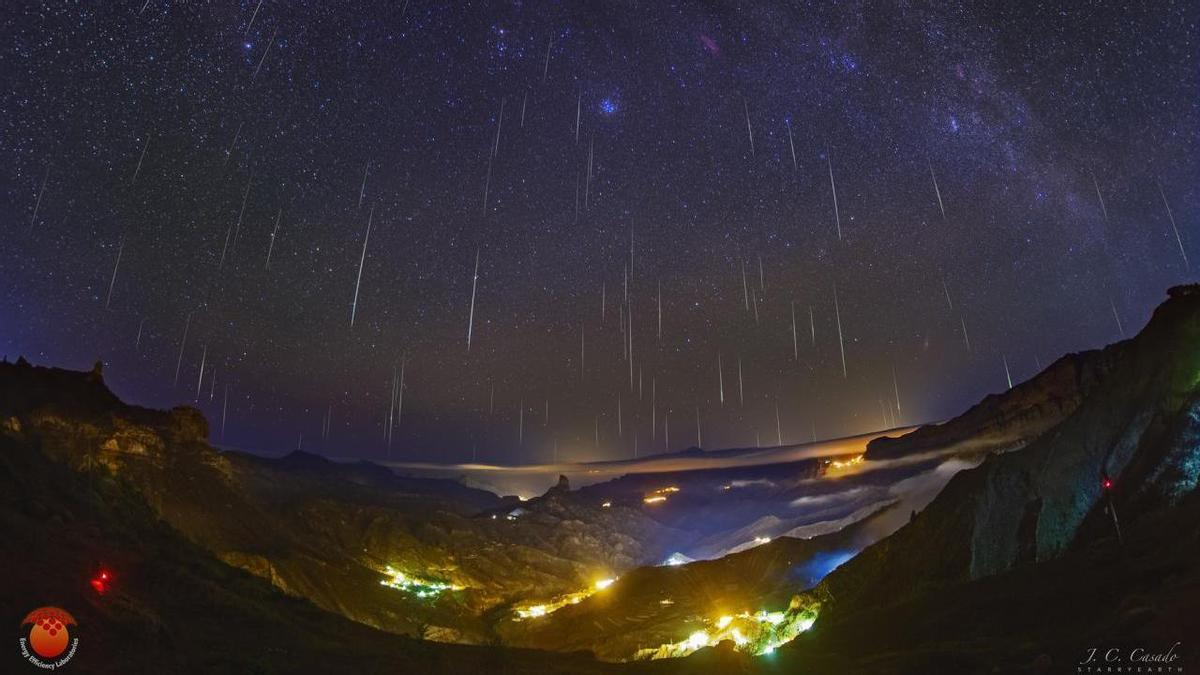 El valle de Tejeda, bañado por la lluvia de estrellas de las Gemínidas 2020 / Juan Carlos Casado