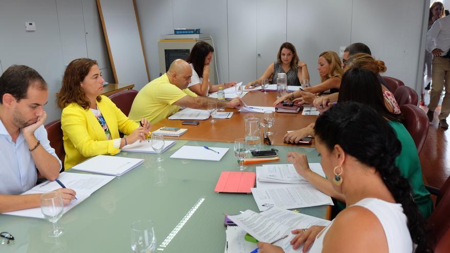 La consejera de Derechos Sociales, Igualdad, Diversidad y Juventud del Gobierno de Canarias, Noemí Santana, durante un encuentro con los y las representantes de las áreas de Bienestar Social insulares.