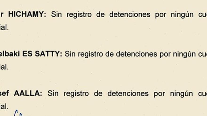 """""""Sin registro de detenciones"""" del imán Es Satty"""