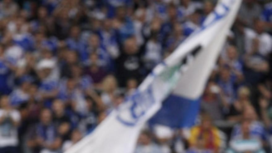 Raúl tras marcar con el Schalke