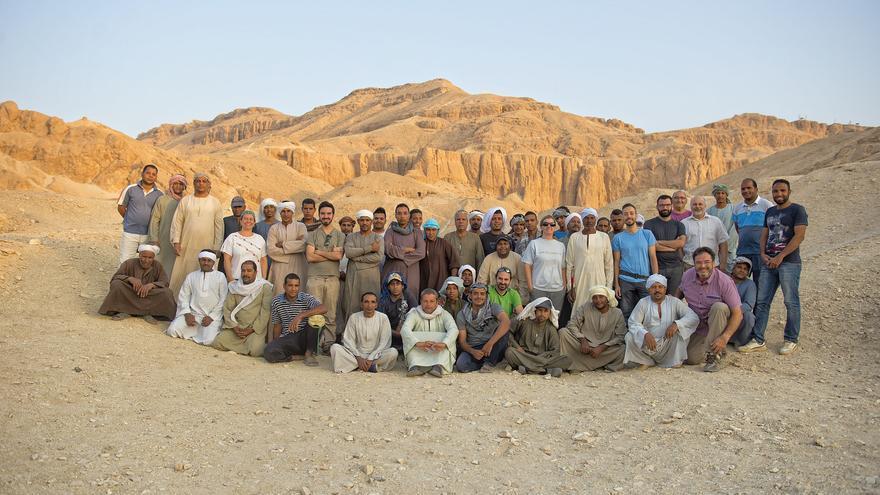 Participantes en el proyecto de arqueología canaria en Egipto.