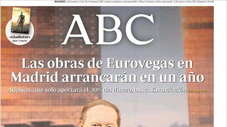 Adelson en la portada de ABC
